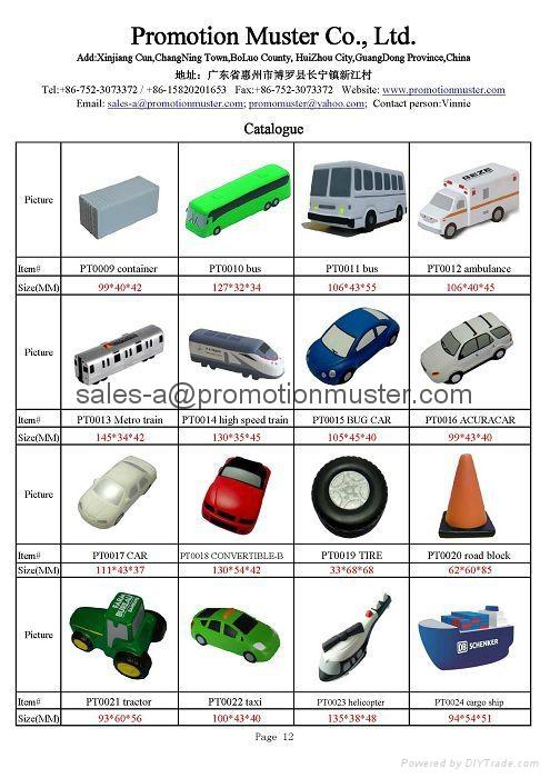 stress delivery truck adertising promotion gift bespoke shape customize shape 5