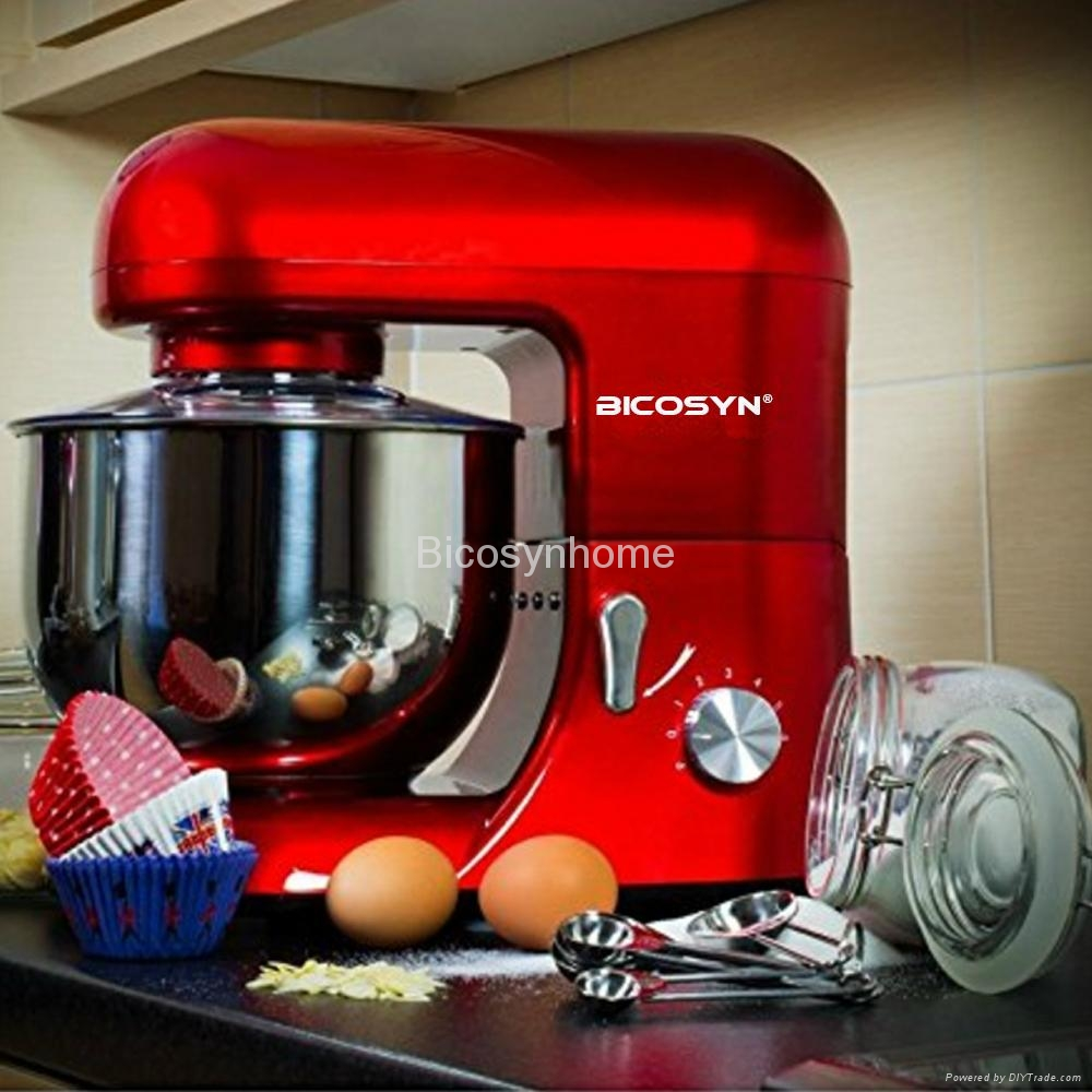 Bicosyn Stand Mixer 800W 5.5Qt 304SUS Bowl 6-Speed  2