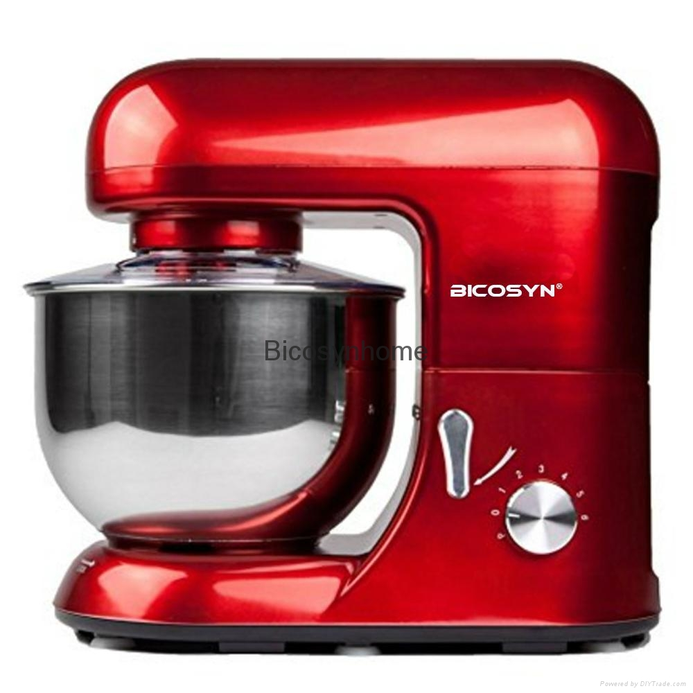 Bicosyn Stand Mixer 800W 5.5Qt 304SUS Bowl 6-Speed  5