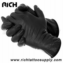 BLACK LATEX FREE DISPOSABLE GLOVES TATTOO MECHANIC MEDICAL S M L XL