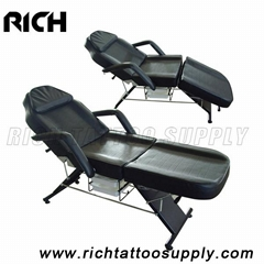 Salon SPA Black Massage Bed Tattoo Chair Facial Adjustable Table Beauty basket