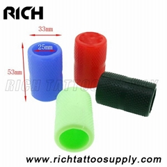 Professional 25mm Tattoo Machine Grip Handle Cover Silicone Hollow Grip