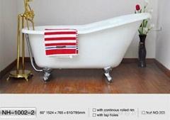 NH-1002-2 Hotsale Single SlipperCAST IRON BATHTUB/New Clawfoot Cast Iron Bathtub