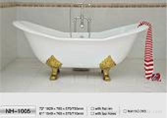 NH-1005 Double Slipper Freestanding CAST IRON BATHTUB/Cast Iron Bath Tub 1