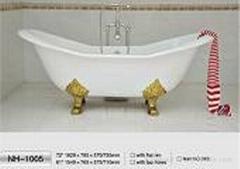 NH-1005 Double Slipper Freestanding CAST IRON BATHTUB/Cast Iron Bath Tub