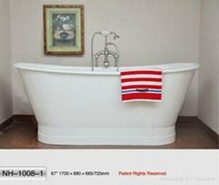 NH-1008-1 Freestanding Cast Iron Bathtub
