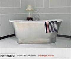 NH-1008-2 Freestanding Cast Iron Bathtub