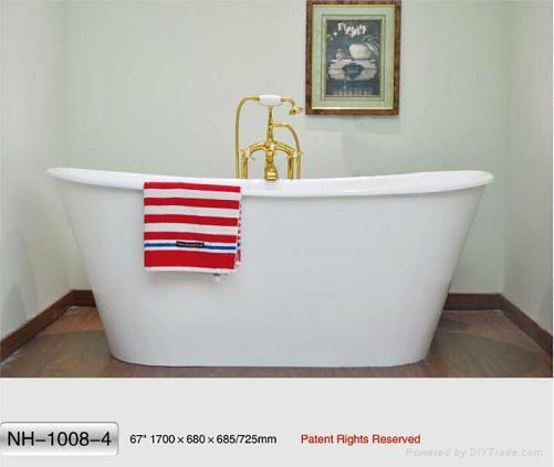 NH-1008-4 Freestanding Cast Iron Bathtub 1
