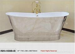 NH-1008-8 Freestanding Cast Iron Bathtub