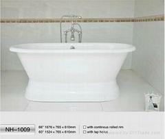 NH-1009 Freestanding Cast Iron Bathtub