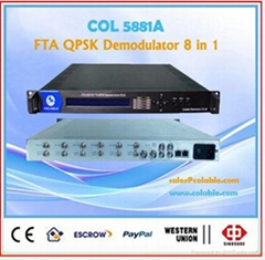 digital free to air satellite receiver demodulator decoder IRD 8 in 1