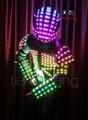 Leather Robot Jacket With LED Light