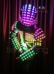 Leather Robot Jacket With LED Light