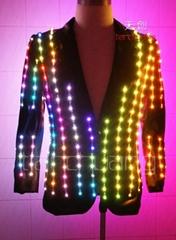 LED发光西服