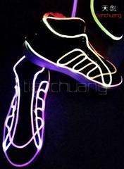 LED发光光钎跳舞鞋