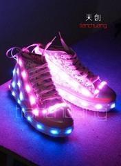DMX512 controlled Fullcolor LED Shoes