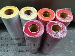 Rubber transfer media for solvent printer machine