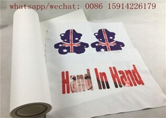 50cm*25m printing and cutting eco-solvent printable PU paper for tshirt logo (Hot Product - 1*)
