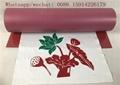 Hotsale high quality cuttable Red flex flock heat transfer vinyl for t-shirt