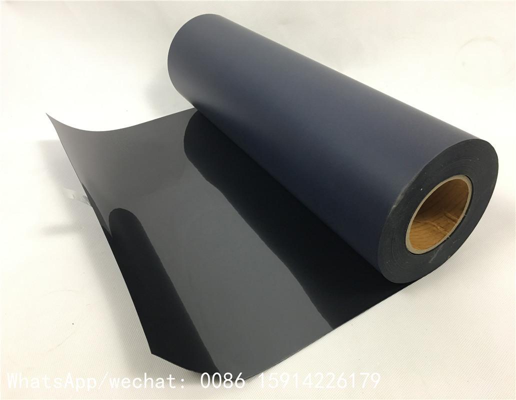 Korean black flock heat transfer film 50cm*27 yards for garment