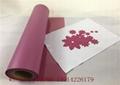 Warn Peel Pink Flock Logo Heat Transfer Paper Vinyl For Printing Shirts