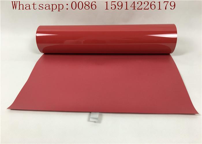 Hot Peel Sticky PU Heat Transfer Vinyl , Red Heat Transfer Vinyl For C 1
