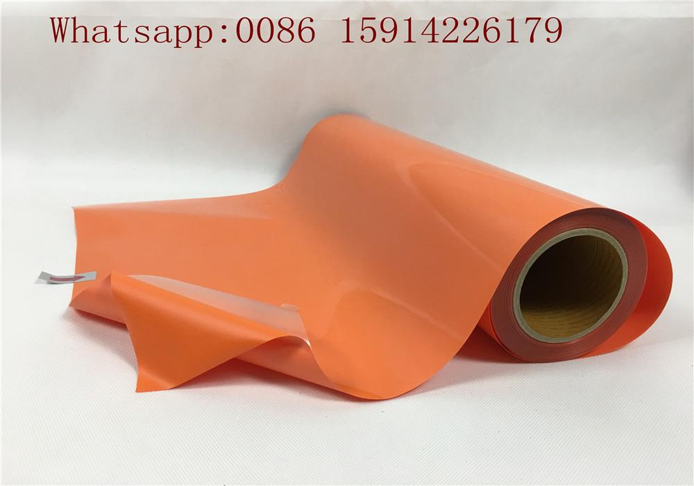 Cuttable Orang PU Heat Transfer Vinyl Good Color Saturation Environmental Frien 1