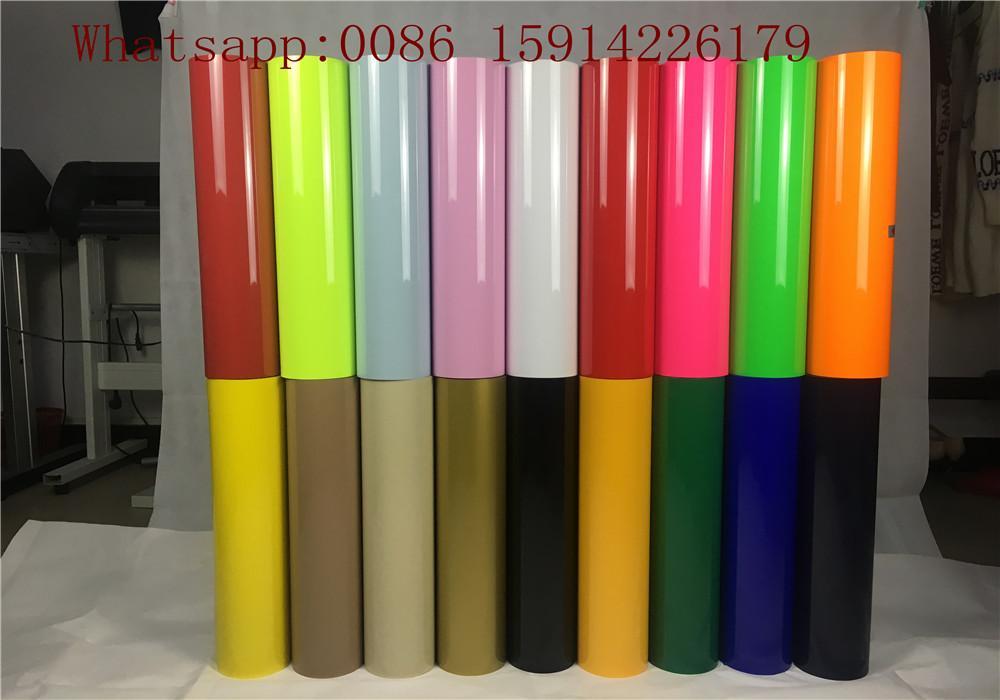 Cuttable Orang PU Heat Transfer Vinyl Good Color Saturation Environmental Frien 5