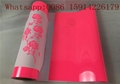 10*12 Inch PU Heat Transfer Vinyl , Soft Sticky Neon Pink Heat Transfer Viny