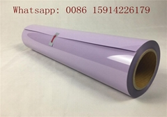 Pst Purple Washable PVC Heat Transfer Film , 50cm*25m Hot Stamping Foil Rolls