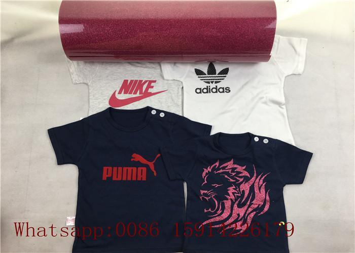 Custom School Shirt Pink Glitter Heat Transfer Vinyl 100% Enviromental Friendly 2