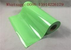 100 - 130um Thinkness Korea Glitter Heat Transfer Vinyl Film Rolls Lemon Green c