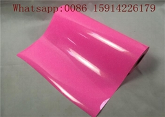 Neon Pink Glitter Heat Transfer Vinyl , Laminate PVC Glitter Heat Transfer Film