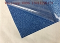 Washable Blue Glitter Vinyl Sheets Strong Sticky For Clothing Printing 3
