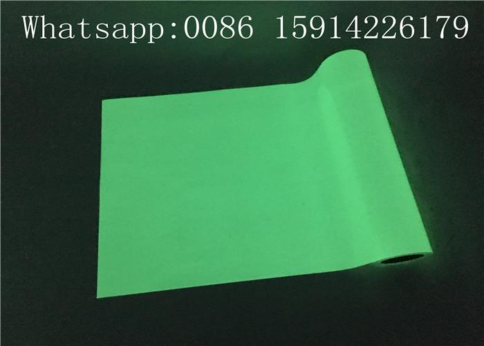 50cm*50m Green Color Glow In The Dark Printer Paper For Apparel / Shoes