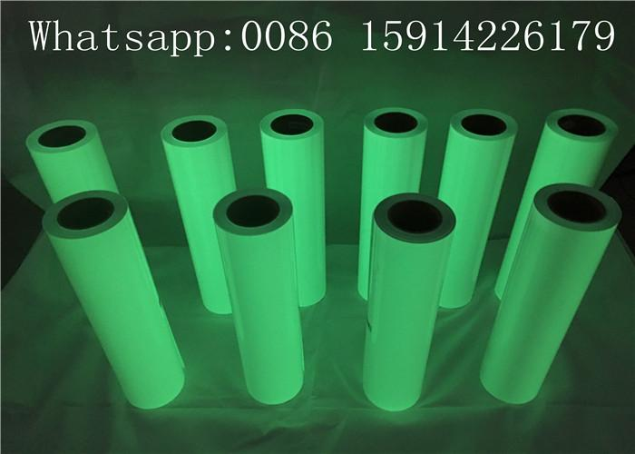 Eco - Friendly Luminescent Vinyl Film Good Affection In The Dark For Garment 1