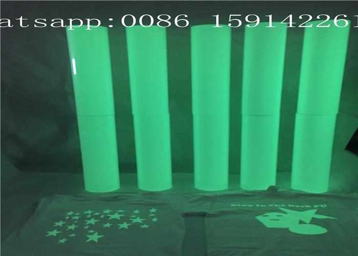 Eco - Friendly Luminescent Vinyl Film Good Affection In The Dark For Garment 5
