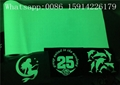 PU Material Glow In The Dark Heat Press Vinyl With Good Washing Resistance