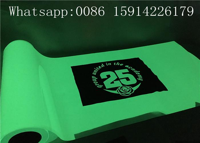 PU Material Glow In The Dark Heat Press Vinyl With Good Washing Resistance 5