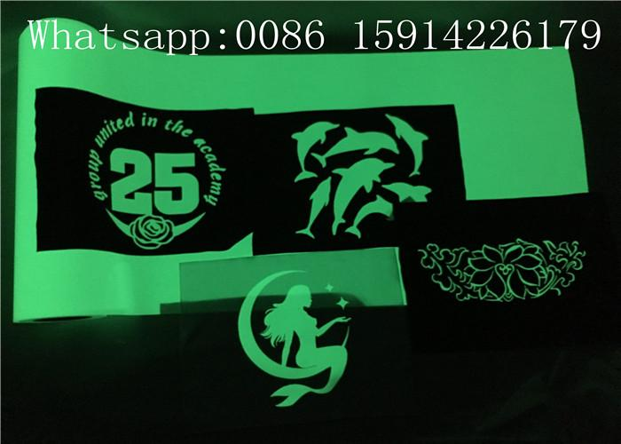 PU Material Glow In The Dark Heat Press Vinyl With Good Washing Resistance 7