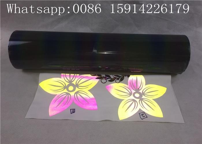 Lightweight Silver Reflective Vinyl Roll , Soft PU Reflective Heat Press Vinyl