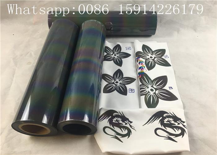 Lightweight Si  er Reflective Vinyl Roll , Soft PU Reflective Heat Press Vinyl 4