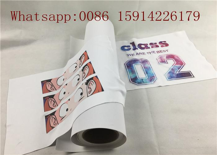 Korean quality 50cm*25m inkjet Eco-so  ent printable flock heat transfer vinyl 2