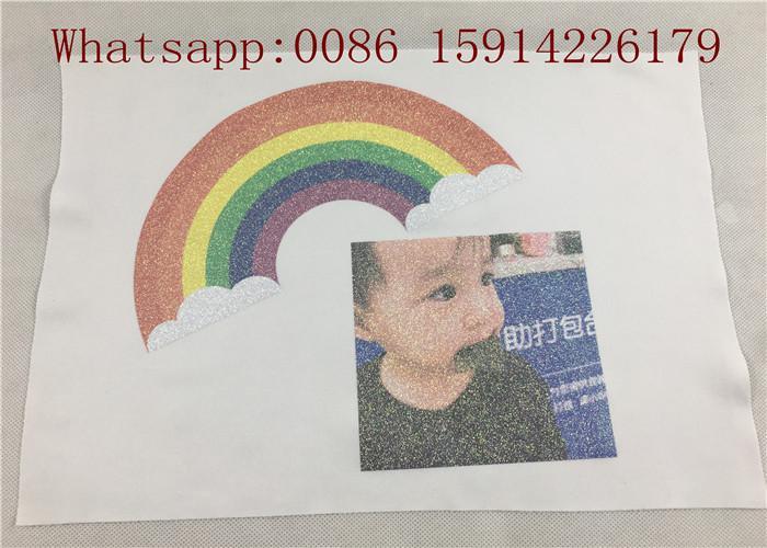 50cm*27 yards Printable glitter heat transfer paper for light fabrics easy cut a 5