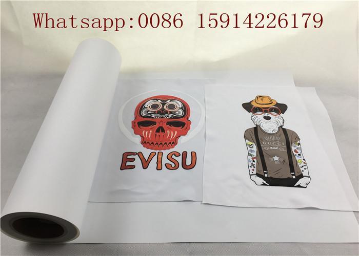 50cm*25m Inkjet Printable Heat Transfer Vinyl For Dark Fabrics White Color 1