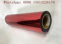 Red Metallic Heat Transfer Vinyl / Metal Color Heat Transfer Film For Leather