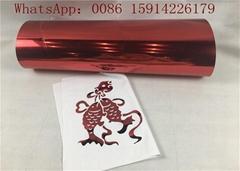Red Metallic Thermal Heat Press Transfer Foil Paper Film For T - Shirt Printi
