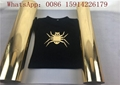 50cm*25m Metallic Gold Heat Transfer Vinyl , T - Shirt Gold Metallic Heat Transf