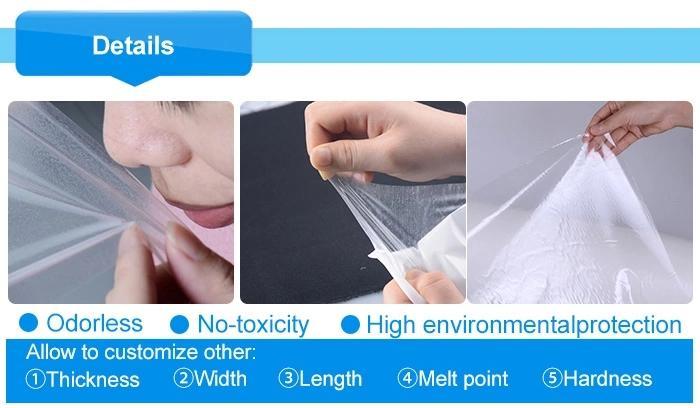 TPU Hotmelt Glue Stick Film & PES Hot Melt Adhesive Film for Garment Labels  5