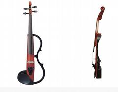 Silver Creek SC3EL Acoustic-Electric Violin Amber Brown 4/4 with Soft Case TRJ39